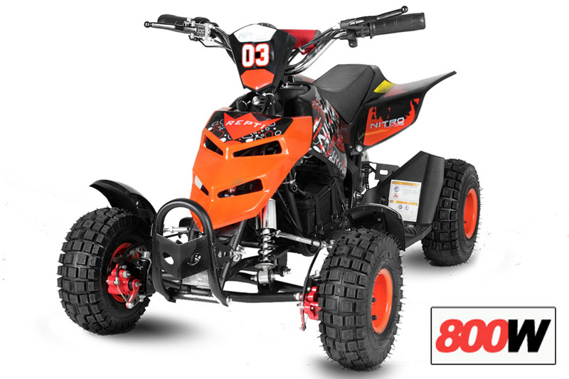 elektro quad repti 800 watt 4 zoll motocross. Black Bedroom Furniture Sets. Home Design Ideas